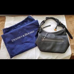 Dooney & Bourke Black leather bucket bag